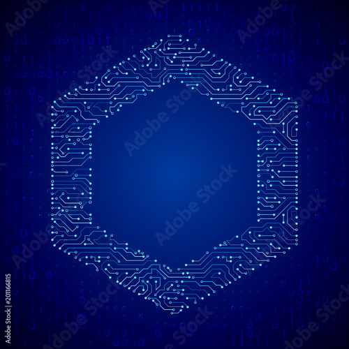 abstract hexagon circuit board vector background technology concept rh fotolia com