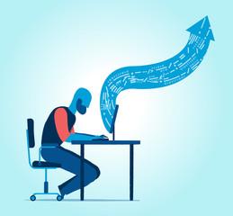 Lavoro alla scrivania in ufficio o da remoto