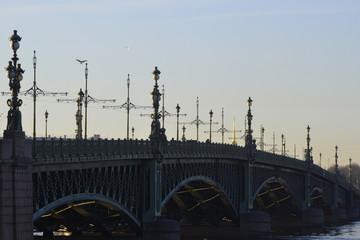 Panorama of the St. Petersburg Trinity Bridge
