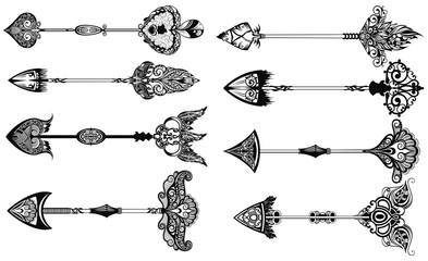 Set of boho arrows