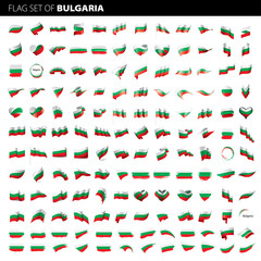 Bulgaria flag, vector illustration
