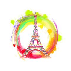 Paris Eiffel Tower Drawing Concept