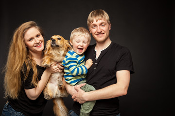 lachende Familie