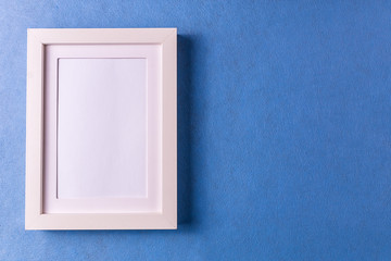 Mockup. Abstract minimalism colofrul paper background with empty picture frame.