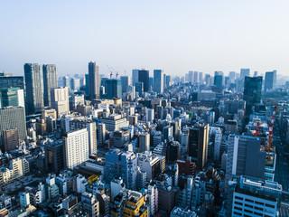 都会の街並み。俯瞰。