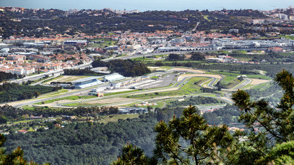 Estoril F1 racing circuit aerial view