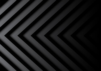 Abstract black gray arrows pattern in shadow background vector illustration.