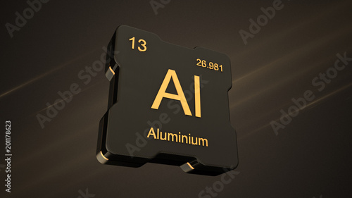 Aluminium element number 13 from the periodic table on futuristic aluminium element number 13 from the periodic table on futuristic black icon and nice lens flare urtaz Image collections