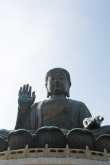 The Famous Statue of Tian Tan Buddha located in Ngong Ping Village, Hong Kong