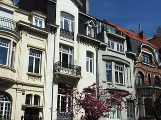 Brüssel: Schöne Altbaufassaden, Wohnviertel