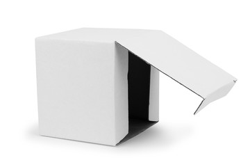 Paper white box on a white background