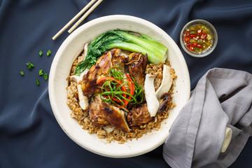 Chicken Rice Claypot, Plat Chinois