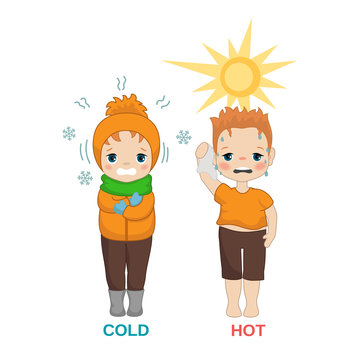 Hot and cold boy.
