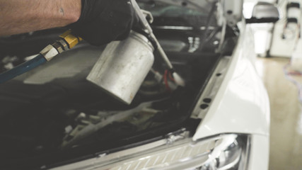 Professional engine cleaning, car washing, car showroom, service, shop.