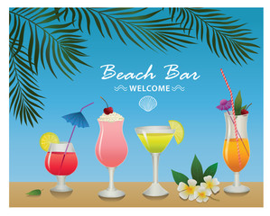 Set of alcohol drinks and cocktails. For menu, poster, banner and other design