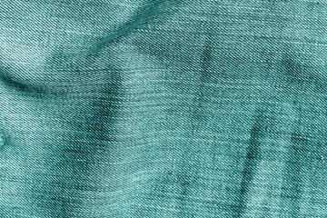 Jeans cloth pattern in cyan tone.