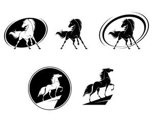 Set of horse icons