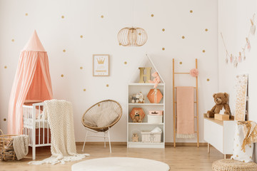 Scandi child's bedroom interior