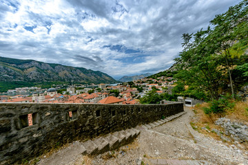 Descent from the mountains to the Boka Bay of Kotor
