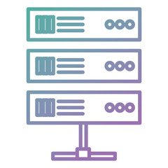 data center server icon vector illustration design