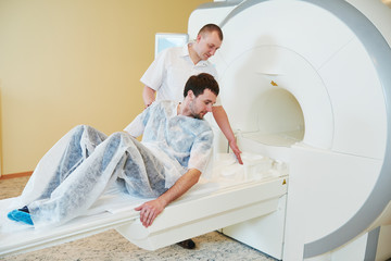 MRI scan test or computed tomography in hospital