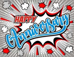 Happy anniversary lettering for greeting