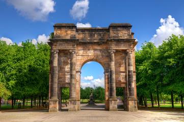 Wall Murals Algeria McLennan Arch in Glasgow Green, Scotland.
