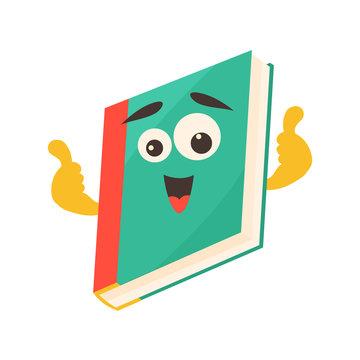 Childish smiling book school, education concept