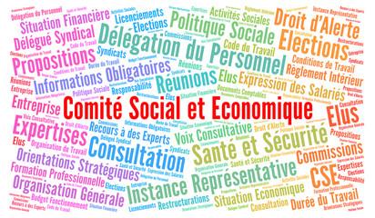Comité social et économique nuage de mots