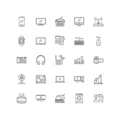 electronics outline icons 25