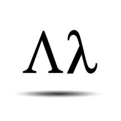 Vector image of Greek letter Lambda