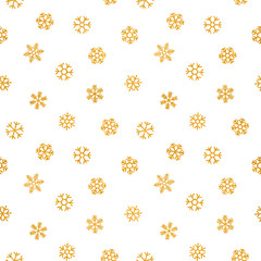 Abstract pattern of falling snowflakes