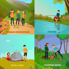Camping People Design Concept