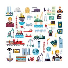 oil industry set icons vector illustration design