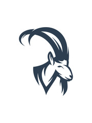 goat logo template vector illustration