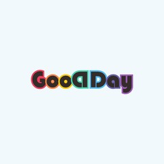 good day logo and icon for happy and typography