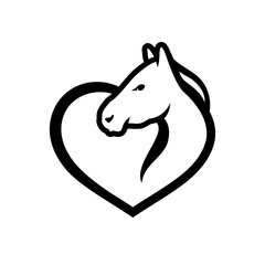 Horse love sign