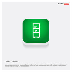 Book Shelf Icon Green Web Button