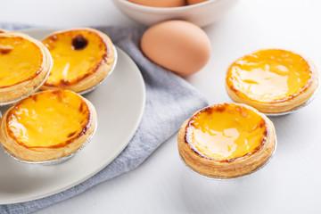 Portugal Egg Tart. Egg tart with egg.