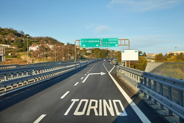 Highway driving in Italy
