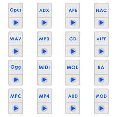 Audio format icons