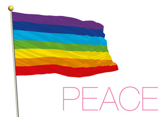 Peace flagisolated on the white background