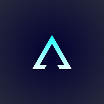triangle logo design for company, element, and concept