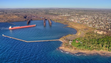 Two Harbors is a community on the North Shore of Lake Superior in Minnesota