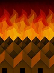 Houses Near Fire