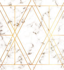 Marble texture with modern geometric gold lines pattern. Background for designs banner, card, flyer, invitation, party, birthday, wedding, placard, magazine, web