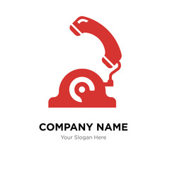 Telephone company logo design template