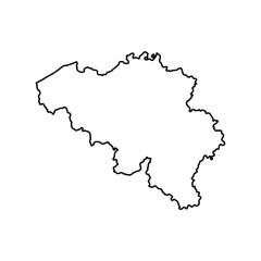 map of Belgium. vector illustration