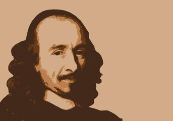 Corneille - écrivain - portrait - personnage célèbre - théâtre - littérature - Pierre Corneille