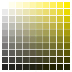 Color chart yellow black print production color guide ink catalog
